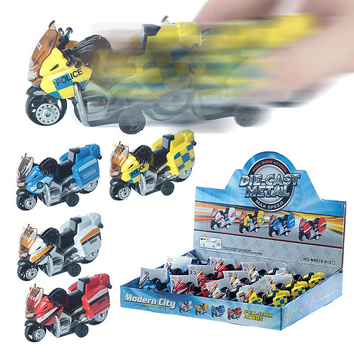 Fun Kids Pull Back Diecast Motorbike Novelty Gift