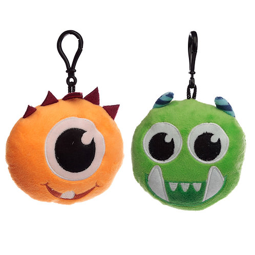 Plush Monstarz Monster Sound Keyring Novelty Gift [Pack of 2]