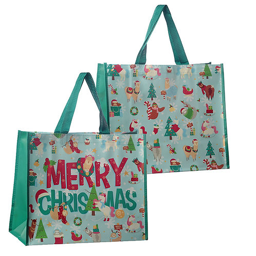 Festive Animals Christmas Design Reusable Shopping Bag Novelty Gift