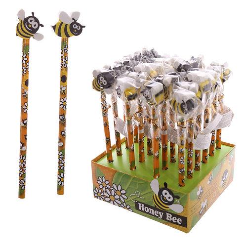 Novelty Kids Bee Design Pencil and Eraser Novelty Gift