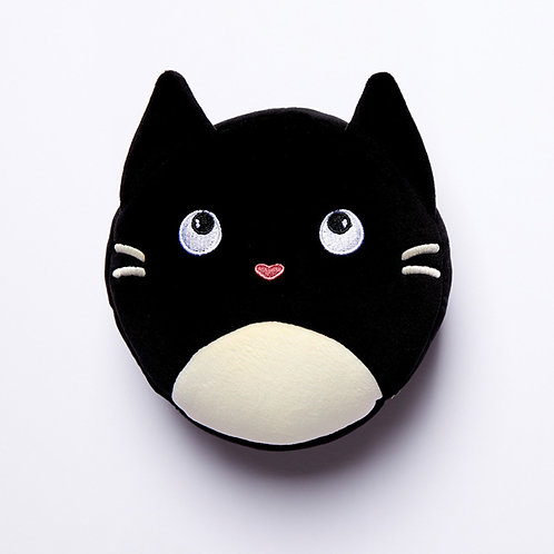 Feline Fine Cat Relaxeazzz Plush Round Travel Pillow & Eye Mask Set Novelty Gift