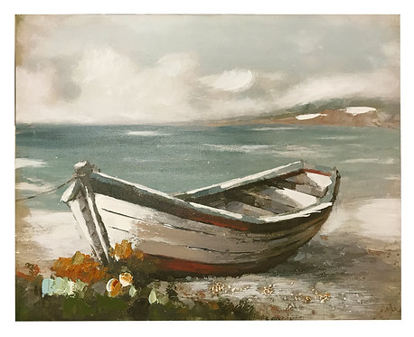 Wooden Boat Canvas - Red Boat Shipping furniture UK