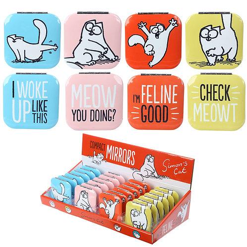 Novelty Gift Fun Collectable Simon's Cat Compact Mirror