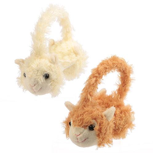 Fun Plush Llama Earmuffs (One Size) Novelty Gift