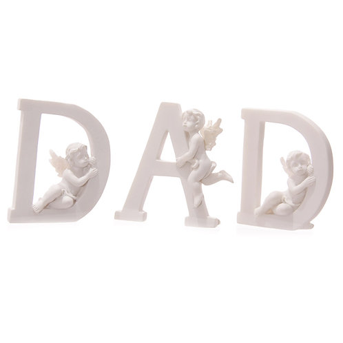 Cute Cherub DAD Letters Ornament Novelty Gift