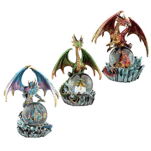 Crystal Orb Dark Legends Dragon Waterball Snow Globe Novelty Gift
