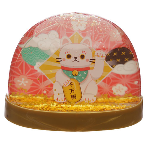 Collectable Snow Storm - Lucky Cat Maneki Neko Novelty Gift