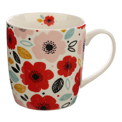 Collectable Porcelain Mug - Poppy Fields Novelty Gift