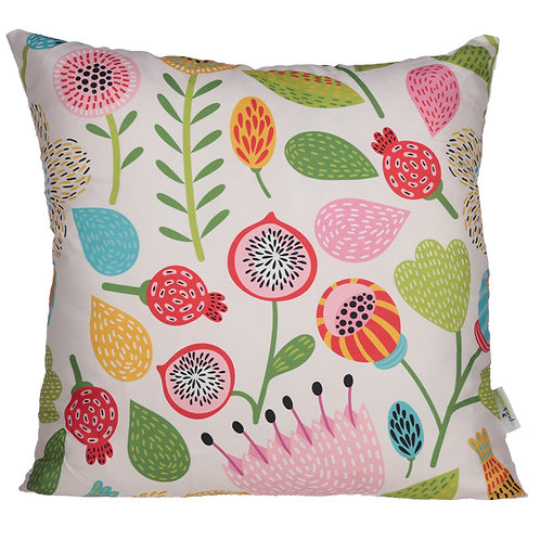 Cushion with Insert - Autumn Floral Design 50 x 50cm Novelty Gift
