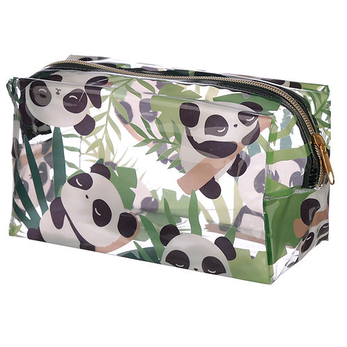 Handy Clear PVC Wash Bag - Panda Design Novelty Gift