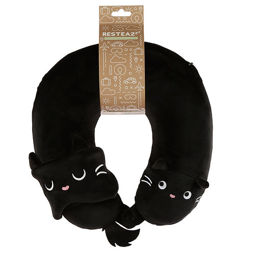 Feline Fine Plush Memory Foam Travel Pillow & Eye Mask Set Novelty Gift