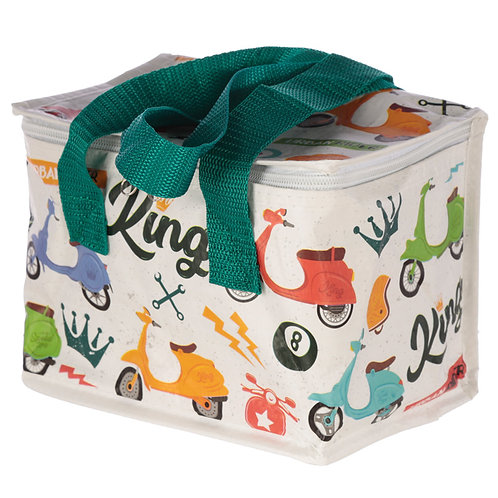 Speed King Scooter Design Lunch Box Cool Bag Novelty Gift