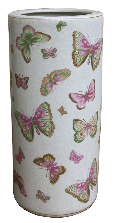 Ceramic Umbrella Stand, Butterfly Design Shipping furniture UK