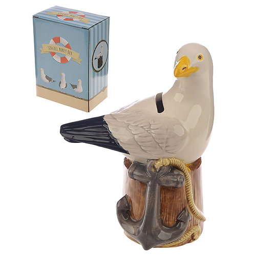 Collectable Ceramic Seagull Shaped Money Box Novelty Gift