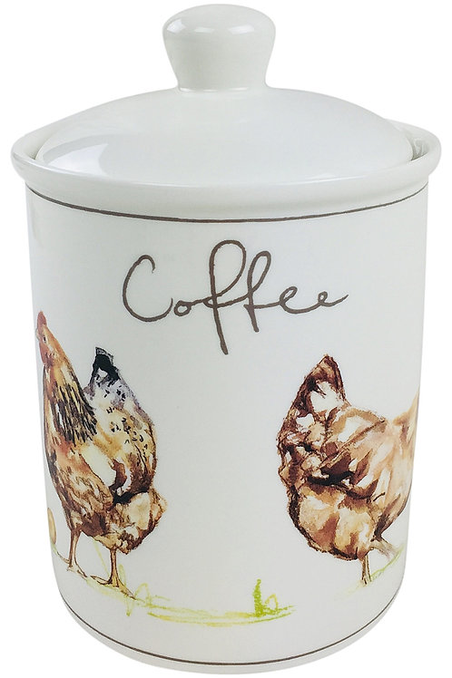 Country Chickens Ceramic Canister - Coffee Shipping furniture UK