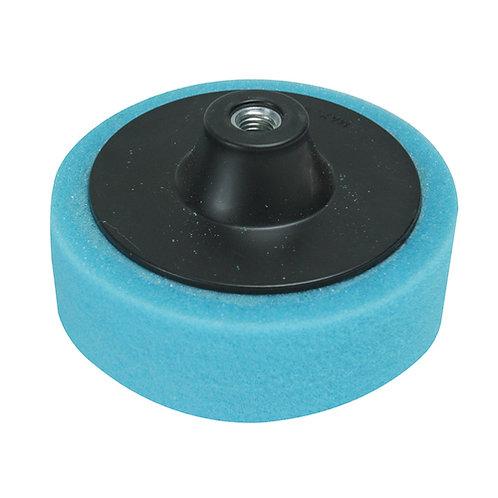 Silverline M14 Foam Polishing Head 150mm Medium Blue   DIY Bargains