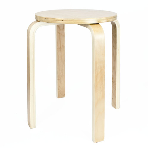 Wooden Stool - Natural | Home Essentials UK