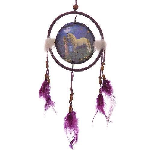 Decorative Fantasy Unicorn Garden 16cm Dreamcatcher Novelty Gift