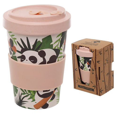 Bamboo Composite Pandarama Screw Top Travel Mug Novelty Gift
