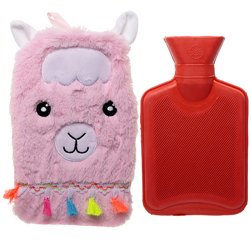 Cute Llamapalooza Design 1 Litre Hot Water Bottle and Cover Novelty Gift