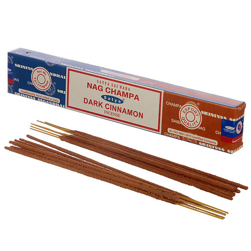 Satya Incense Sticks - Nag Champa & Dark Cinnamon Novelty Gift