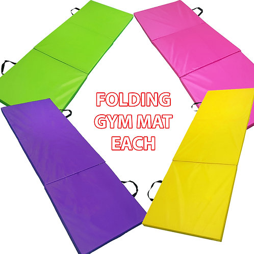 Folding Gymnastic Mats for Home, Outsite sports 15mm Yoga Exercise Mats