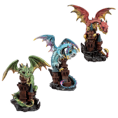 Castle Protector Elements Dragon Figurine Novelty Gift