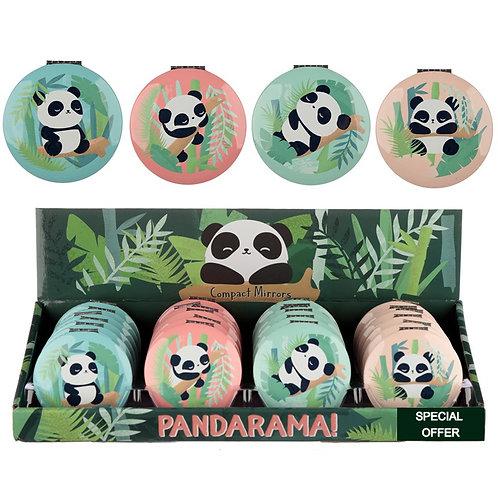 Fun Collectable Panda Design Compact Mirror Novelty Gift