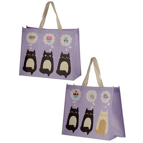 Feline Fine Cat Design Durable Reusable Shopping Bag Novelty Gift