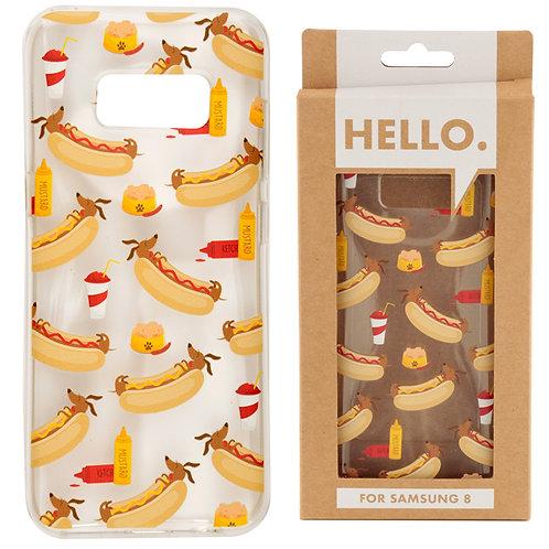 Samsung 8 Phone Case - Hot Dog Fast Food Design Novelty Gift