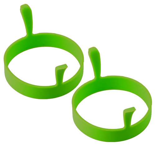 2x Silicone Egg Ring - Green | Home Essentials UK