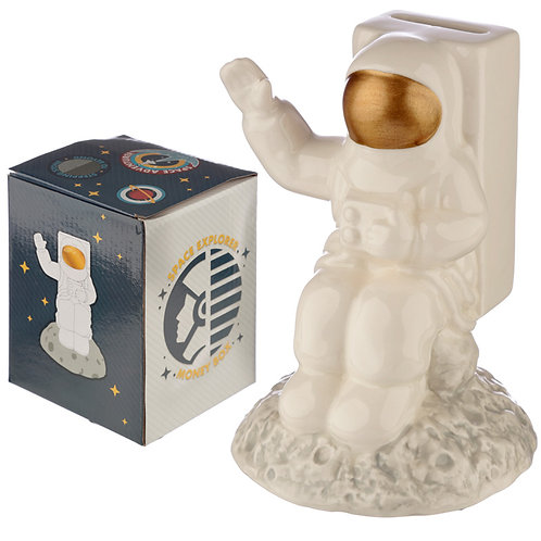 Collectable Ceramic Spaceman Shaped Money Box Novelty Gift