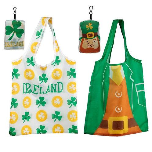 Handy Leprechaun Ireland Shopping Bag with Holder [ONE ONLY] Novelty Gift