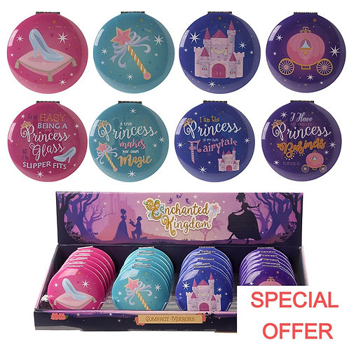 Novelty Gift Fun Collectable Princess Design Compact Mirror