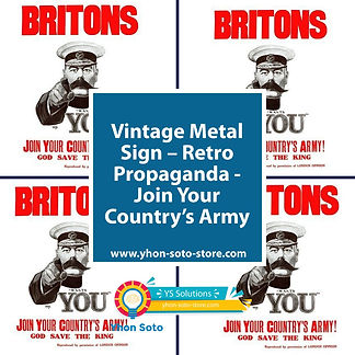 Retro Propaganda – Join Your Country's Army Metal Sign Shipping furniture UK