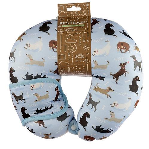 Catch Patch Dog Relaxeazzz Travel Pillow & Eye Mask Set Novelty Gift