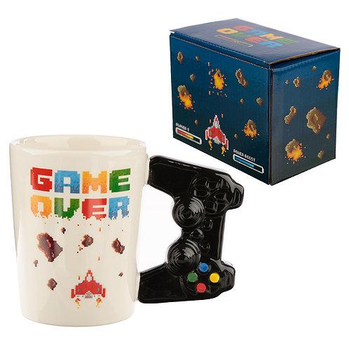 Ceramic Game Over Shaped Handle Mug Novelty Gift