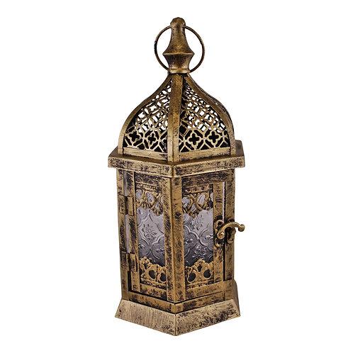 Large Gold Metal Moroccan Style Kasbah Candle Lantern Shipping furniture UK