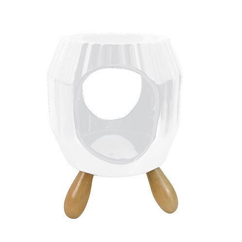 Ceramic Ridged Abstract Eden Oil Burner - Limited Stock Available Novelty Gift