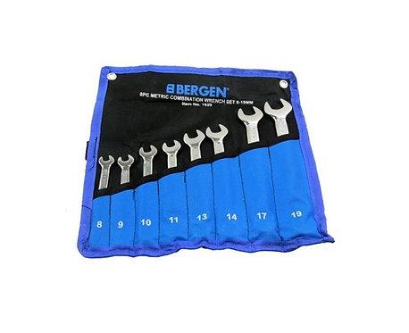 Bergen BER1929 8pc Combination Spanner Set 8-19mm | DIY Bargains