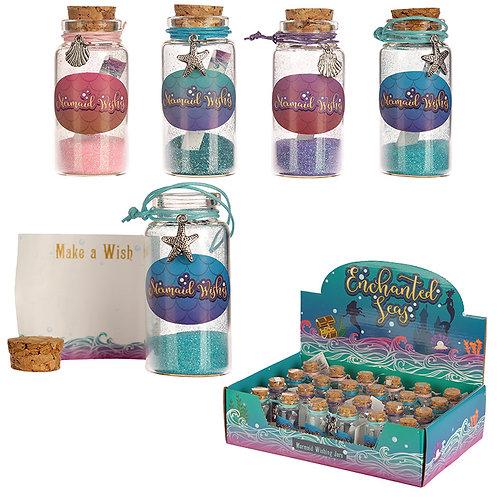 Fun Mermaid Collectables - Mermaid Wishes Jar Novelty Gift