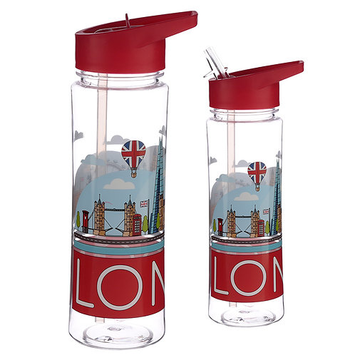 Reusable London Skyline 550ml Bottle Novelty Gift