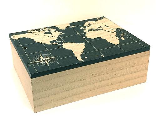 Large Map Design Storage Box Shipping furniture UK