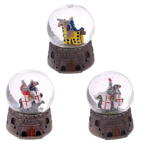 Knight Snow Globe - Mounted on Horseback Novelty Gift