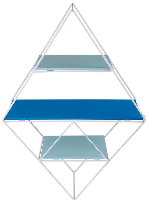 Blue Wire Geometric Shelf Shipping furniture UK