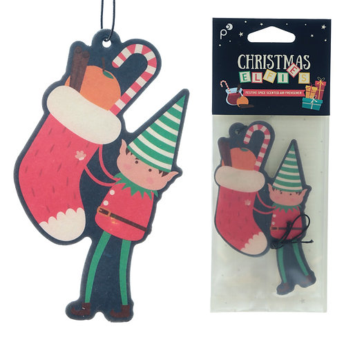 Christmas Elf Festive Spice Scented Air Freshener Novelty Gift