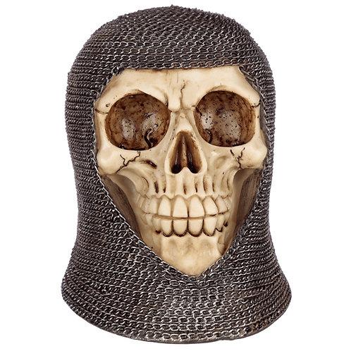 Novelty Gothic Chain Mail Skull Ornament Gift