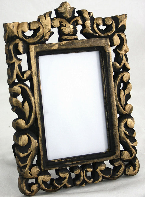 Black and Gold Carved Photo Frame Shipping furniture UK