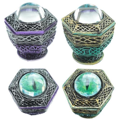 Dragon Eye Hexagonal Dark Legends Trinket Box Novelty Gift