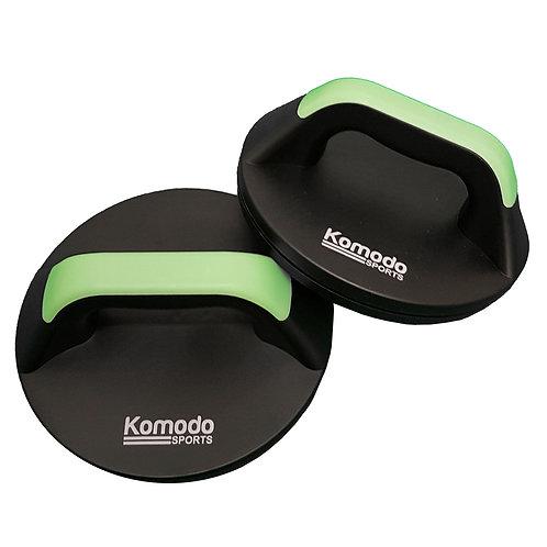 Komodo Rotating Push Up Handles - Green   Home Essentials UK
